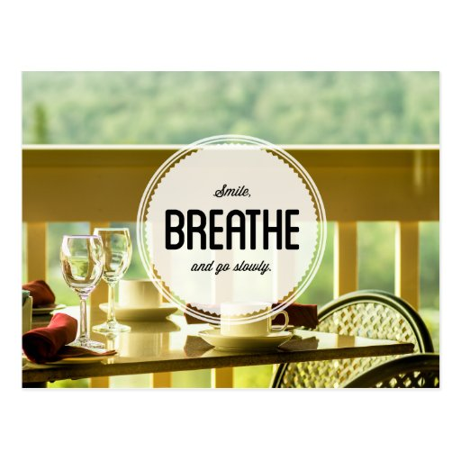 Learn to Relax Inspirational Postcard