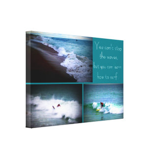 Learn to Surf wall hanging Canvas Print