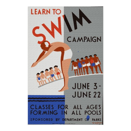 Learn to  Swim Campaign Poster