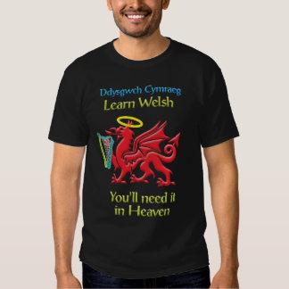 Learn Welsh T Shirt Dark