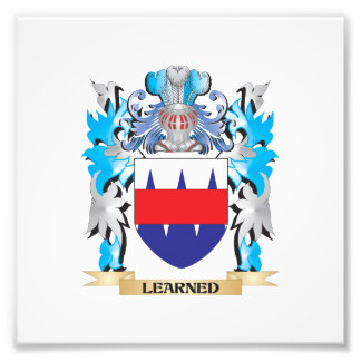 Learned Coat of Arms - Family Crest Art Photo