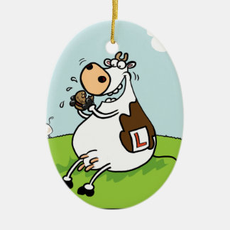 Learner Cow Christmas Ornament