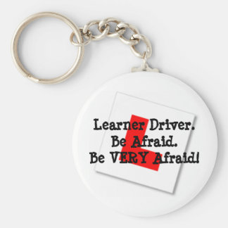 Learner Driver Basic Round Button Key Ring