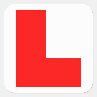 Learner Symbol Square Sticker