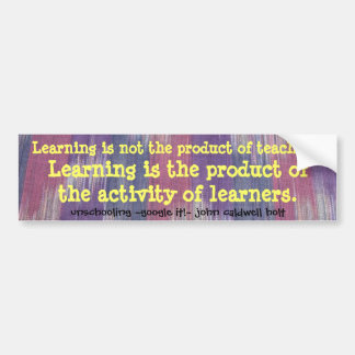 learning bumper sticker