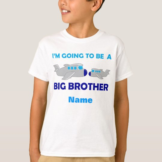 Learning Candy Big Brother Cute Aeroplane T-Shirt