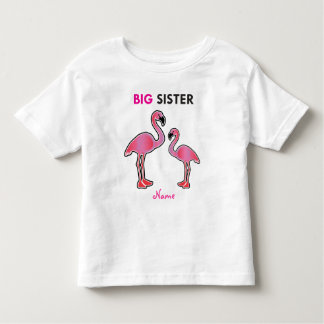 Learning Candy Big Sister Flamingo Personalized Toddler T-Shirt