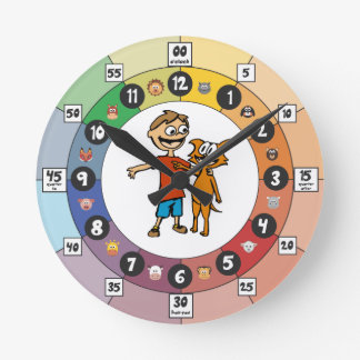 Learning Clock for Young Children: Sagan and Loki