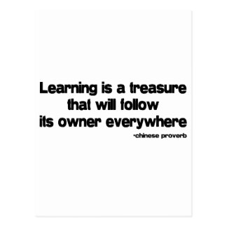 Learning is a Treasure quote Postcard