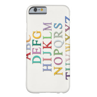 learning, letters, alphabet barely there iPhone 6 case