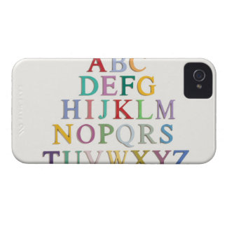 learning, letters, alphabet Case-Mate iPhone 4 cases