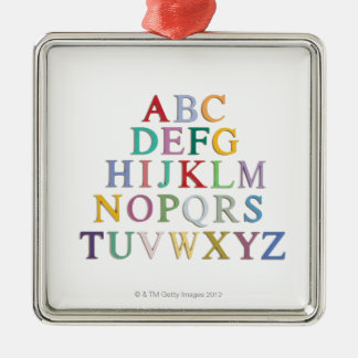 learning, letters, alphabet christmas ornament