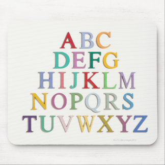 learning, letters, alphabet mouse mat