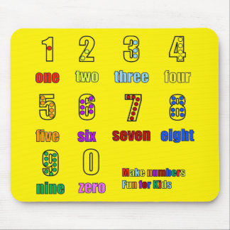 LEARNING NUMBERS FUNTIME MOUSE MAT