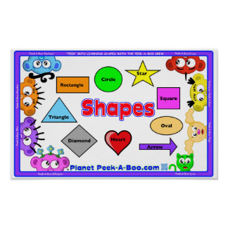 LEARNING POSTER -SHAPES WITH THE PEEK-A-BOO CREW