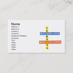 Reading business cards zazzle uk learning reading writing business card reheart Gallery