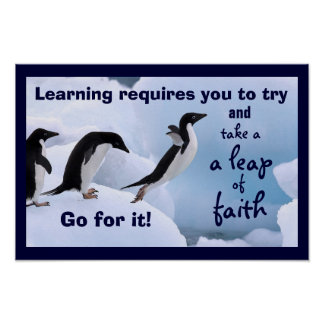 Learning Takes a Leap of Faith Poster