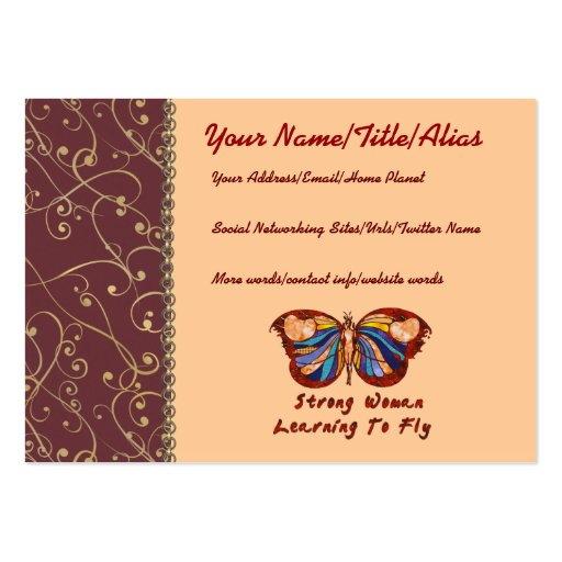 Learning To Fly Business Card Template