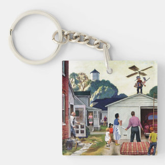 Learning to Fly Double-Sided Square Acrylic Key Ring