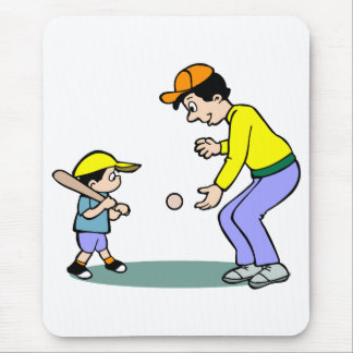 learning to hit the ball mousepad