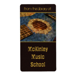 Learning to Rock Bookplates Shipping Label