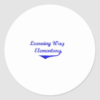 Learning Way Elementary Items Round Stickers