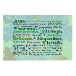 learning words art print