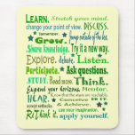 Learning words collage mouse pad