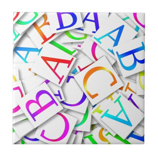 Learning Your ABCs Ceramic Tile