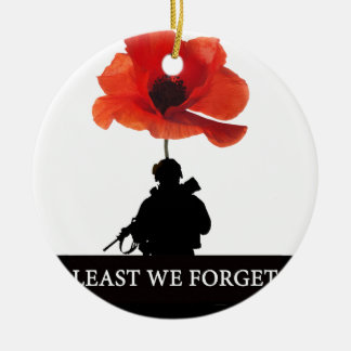 LEAST WE FORGET AFGHANISTAN TROOPER CHRISTMAS ORNAMENT
