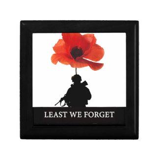 LEAST WE FORGET AFGHANISTAN TROOPER GIFT BOX