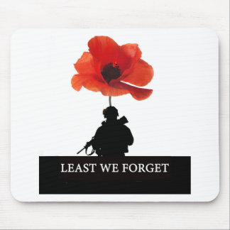 LEAST WE FORGET AFGHANISTAN TROOPER MOUSE MAT