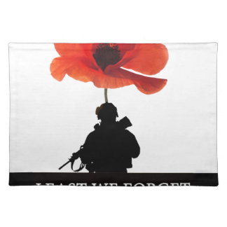 LEAST WE FORGET AFGHANISTAN TROOPER PLACEMAT