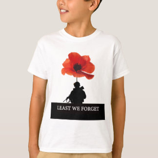 LEAST WE FORGET AFGHANISTAN TROOPER T-Shirt