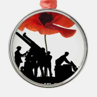 LEAST WE FORGET ARTILLERY CHRISTMAS ORNAMENT