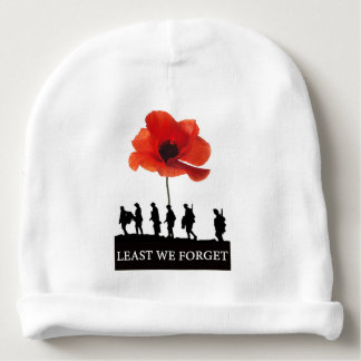 LEAST WE FORGET SOLDIERS MARCHING BABY BEANIE