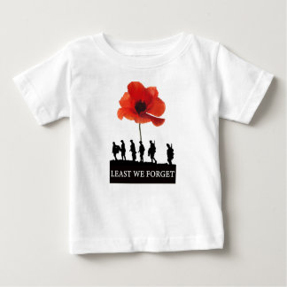 LEAST WE FORGET SOLDIERS MARCHING BABY T-Shirt