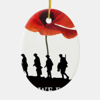 LEAST WE FORGET SOLDIERS MARCHING CHRISTMAS ORNAMENT