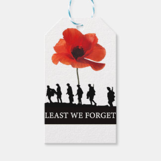LEAST WE FORGET SOLDIERS MARCHING GIFT TAGS