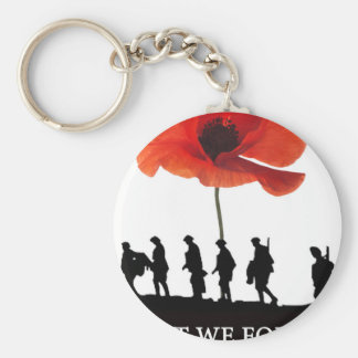 LEAST WE FORGET SOLDIERS MARCHING KEY RING