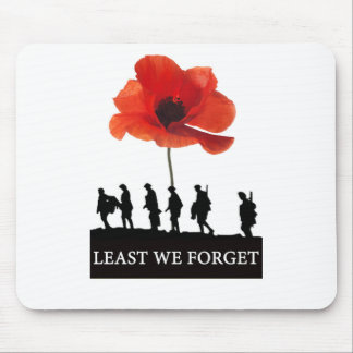 LEAST WE FORGET SOLDIERS MARCHING MOUSE MAT
