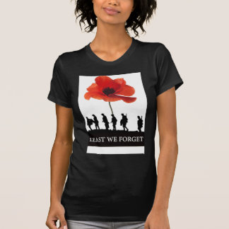LEAST WE FORGET SOLDIERS MARCHING T-Shirt