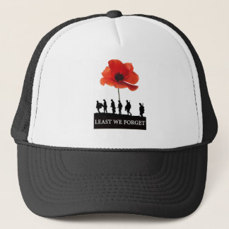 LEAST WE FORGET SOLDIERS MARCHING TRUCKER HAT