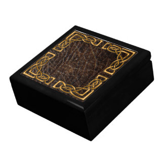 Leather and gold celtic box