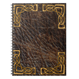 Leather and gold celtic notebook