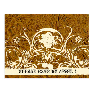Leather and Lace RSVP Postcard