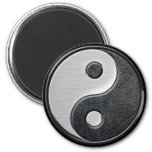 Leather and Steel Effect Yin Yang Graphic