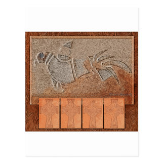 Leather and Stone Bird Postcard