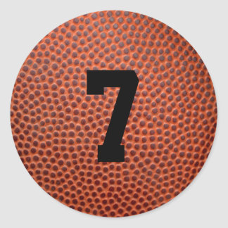 Leather Basketball/Football Jersey Number Sticker