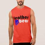 Leather Bear Blue Bear Paw Sleeveless Tees